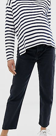 Asos Maternity ASOS DESIGN Maternity Recycled Florence authentic straight leg jeans in washed black with side bump bands