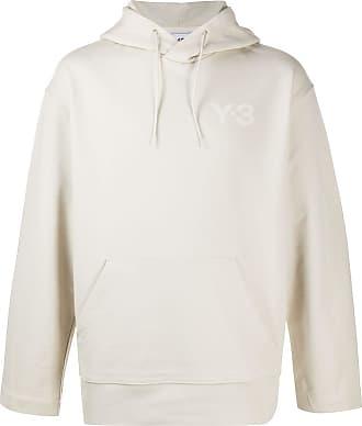 Yohji Yamamoto logo print hoodie - Neutro