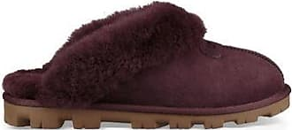 UGG Womens Coquette Slipper in Port, Size 10, Leather/Shearling/Suede