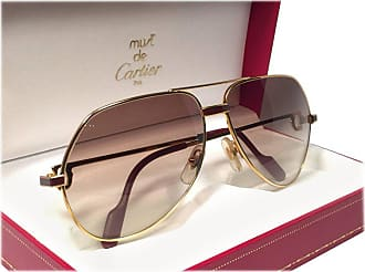 1ce63d744de Cartier New Cartier Laque De Chine Aviator Gold 56mm Heavy Plated  Sunglasses France