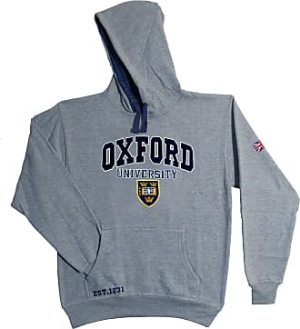 Oxford University Official Licensed Applique Hoodie (Grey, X-Small)