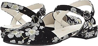 Anne Klein Womens Odell Fabric Ballet Flat, Black/Multi Floral, 5.5 M US