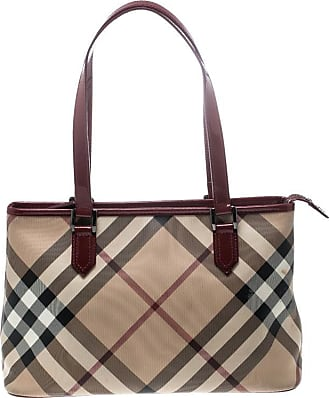 563bb15cc248 Burberry Beige red Supernova Pvc And Patent Leather Small Nickie Tote