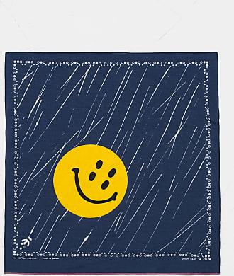 KAPITAL Rain Smile Bandana Navy