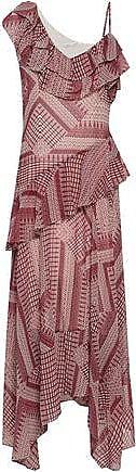 Rebecca Minkoff Rebecca Minkoff Woman Ruffled Printed Crepe Midi Dress Red Size 10