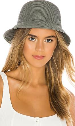 Brixton Essex Straw Bucket Hat in Gray