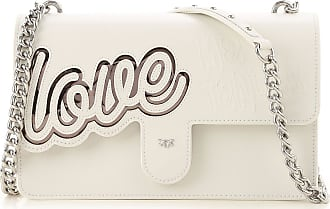 Pinko Shoulder Bag for Women On Sale, White, Leather, 2017, one size
