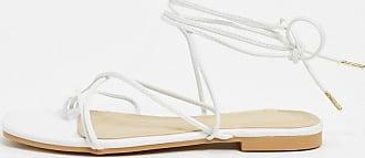 Pimkie wraparound flat sandals in white
