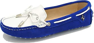 MGM-Joymod Womens Casual Comfortable Royal Blue Suede Leather Bowknot Driving Outdoor Walking Weekend Loafers Flats Boat Shoes 6.5 M UK