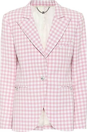Paco Rabanne Gingham virgin wool blazer