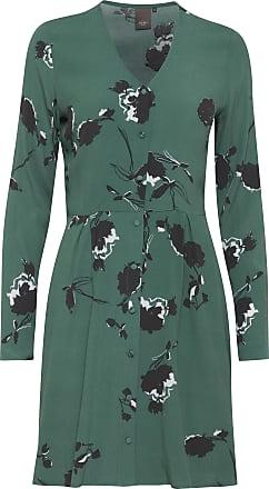 Ichi Banks Blumen bedrucktes Kleid - 38 (UK 12) - Black/Green/White