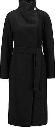 BOSS Wrap coat in a virgin-wool blend with cashmere