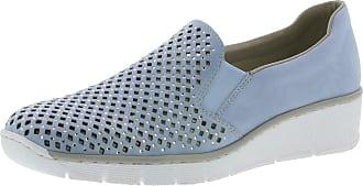 Rieker Punch Womens Casual Slip On Shoes 7.5/41 Sky Nubuck