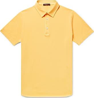 Loro Piana Cotton-piqué Polo Shirt - Marigold