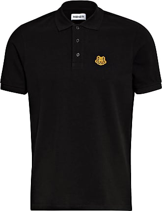 Kenzo Piqué-Poloshirt TIGER CREST - SCHWARZ