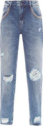 Bobstore Calça Galaxy Denim Slim Bordado Bobstore - Azul