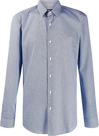 af165abde HUGO BOSS geometric print shirt - Blue