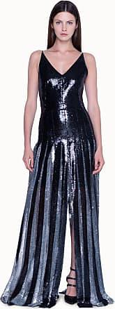 Akris Abendkleid in Plissee mit Pailletten und Faltenrock