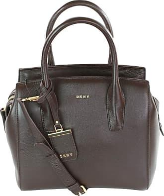 DKNY DKNY Donna Karan Leather Top Handle Bag (Medium, Dark Brown)