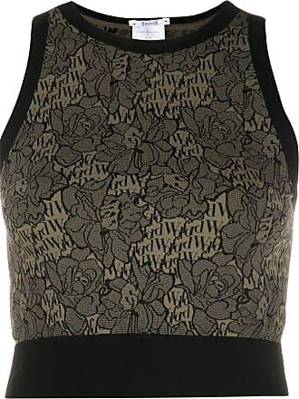 Wolford Blusa cropped com estampa de logo floral - Neutro