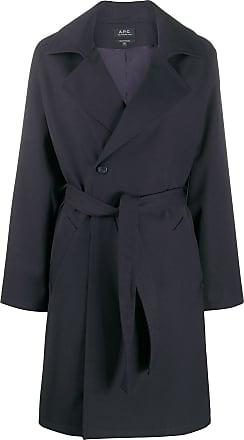 A.P.C. Trench coat com cinto - Azul