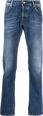 Hand Picked Calça jeans reta - Azul
