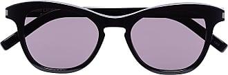 Saint Laurent Eyewear Óculos de sol redondo Havana - Preto