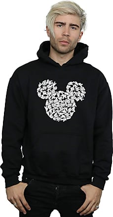 Absolute Cult Disney Mens Mickey Mouse Head of Hands Hoodie Black X-Large