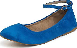 392b5acfc Dream Pair Womens Sole-Fina-Straps Ankle Straps Ballet Flats Shoes Multi  Size: