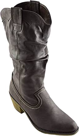 Truffle Ani1 Ladies Boots Midcalf Brown Heel Biker Western Boot[Ladies UK 5 / EU 38]