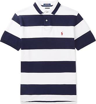 c05bcd85452a1d Polo Ralph Lauren Slim-fit Striped Cotton-piqué Polo Shirt - Blue