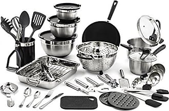 Old Dutch International Old Dutch 1514 58 pc. Kitchen in a Box Stainless Steel Cookware Sets, Black