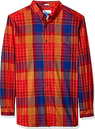 3c747493a2d Columbia Mens Big and Tall Cooper Lake Big & Tall Long Sleeve Shirt, red  Spark