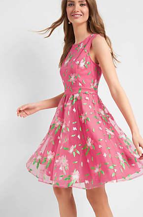 033fa7f4cc4 ORSAY Kleid mit Blumenstickerei in Rot   Rosa