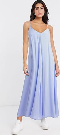 Object tie back cami maxi dress in pastel blue