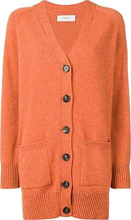Pringle Of Scotland long buttoned cardigan - Laranja
