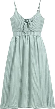 La Redoute Collections Langes Kleid mit Trägern und feinen Streifen - GRÜN - LA REDOUTE COLLECTIONS