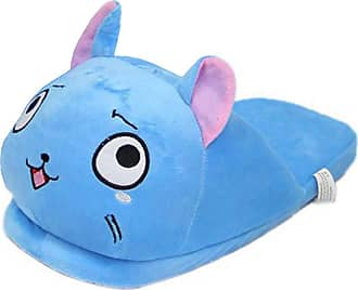Cosstars Fairy Tail Anime Cosplay House Slippers Furry Indoor Slip On Shoes for Women and Men