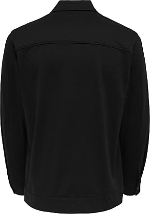 Only & Sons Comfort Stretch Overshirt - Sort