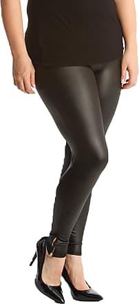 Nouvelle Collection Zip-Detail Wet Look Leggings Black 12-14