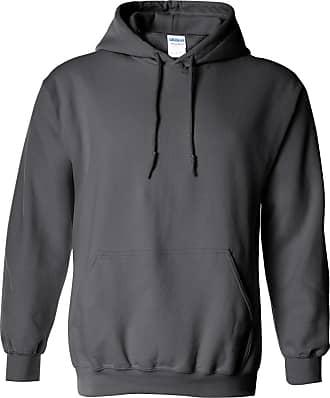 Gildan Heavy Blend Adult Unisex Hooded Sweatshirt/Hoodie (2XL) (Charcoal)