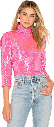 Milly Sequin Turtleneck in Pink