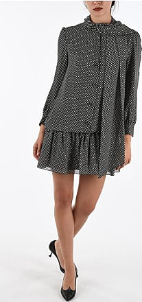 Celine Polka Dots Silk mini Dress Größe 42