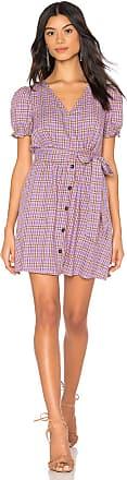J.O.A. V Neck Button Front Dress in Lavender