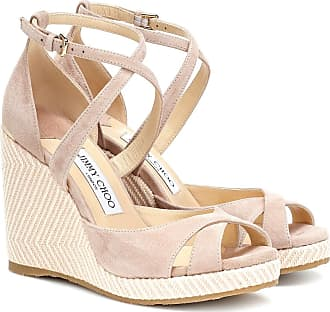 Jimmy Choo London Alanah 105 suede wedge sandals