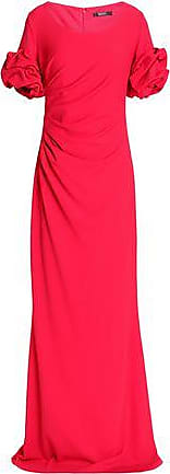 Badgley Mischka Badgley Mischka Woman Ruffled Fluted Crepe Gown Red Size 2