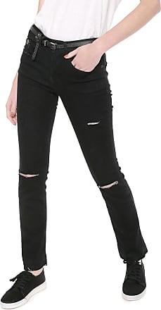 Ellus Calça Jeans Ellus Reta Classic Preta
