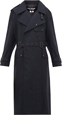 Junya Watanabe Contrast-panel Wool Trench Coat - Womens - Navy Multi