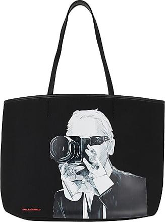 Karl Lagerfeld Legend Photographer Tote Bag Black Shopper schwarz