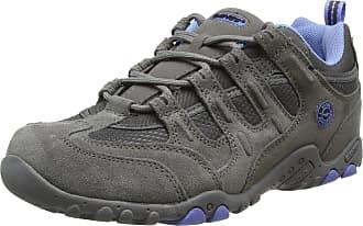 Hi-Tec Quadra Classic Womens Low Rise Hiking Shoes, Grey (Grey/Charcoal/Cornflower 051), 7 UK (40 EU)